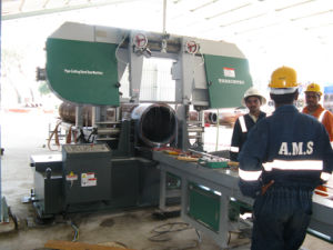 Pipe Band Saw Cutting Prefabrication pictures & photos