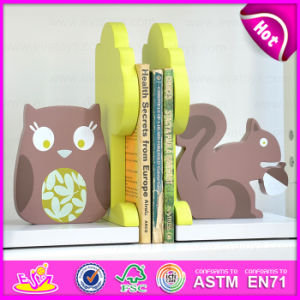 2015 New Wooden Squirrel and Owl Bookend, Hot Sale Wood Squirrel and Owl Bookend, Lovely Bookend Squirrel and Owl Wooden W08d051 pictures & photos