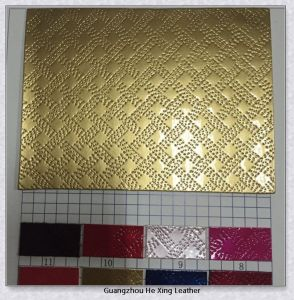 New Design Embossed Artificial PU Leather (9880) pictures & photos