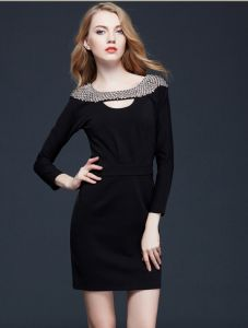 Suumer Dress with Nail Bead Women Slim Dress