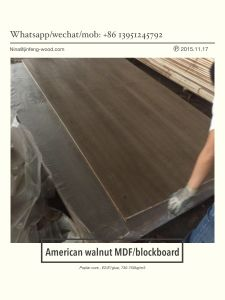 ISO 9001: 2008 Exported Natural American Walnut Bb MDF Veneer pictures & photos