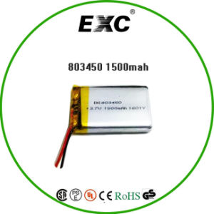 803450 3.7V 1500mAh Lithium Polymer Battery for Bluetooth Device pictures & photos