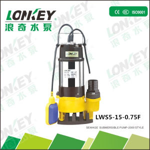 1HP/0.75kw High Head Sewage Submersible Pump, Dirty Water Pump pictures & photos