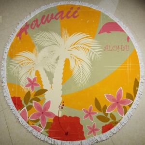 The Latest Microfiber Printed Tropical Jungle Round Beach Towel