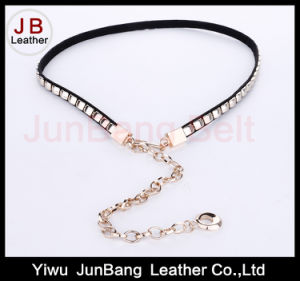 Waist Belt in Imitation Leather with Metal Decoration pictures & photos