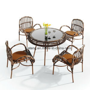 Cheap Outdoor Patio Furniture Synthetic Rattan Restaurant Table and Chair (YT658-1) pictures & photos