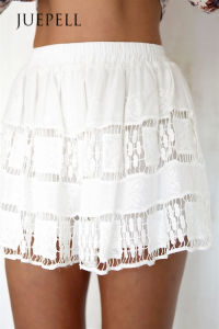 White Lace Loose Women Short pictures & photos