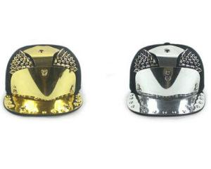 Snakeskin Armor Golden Rivets Flat Brimmed Hat pictures & photos