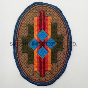 Fashion Colorful Oval Ethnic Embroidery Patch Garment Accessories Wholesale Badge pictures & photos