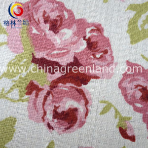 Cotton Linen Printing Flower Fabric for Shirt Dress (GLLML128) pictures & photos