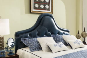 Foshan Manufacture Bedroom Home Furniture Modern Leather Soft Bed Headboard pictures & photos
