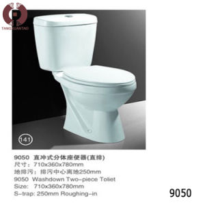 Two Piece Toilet Sanitary Ware for Bathroom (9050) pictures & photos