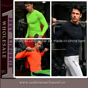 Fashion Men Compression Quick Dry Shirt Fit Gym Wear (THSM01) pictures & photos