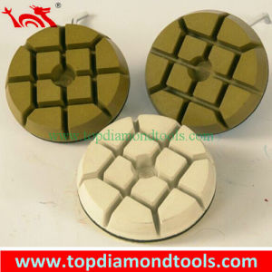 3 Inch Velcro Backed Resin Diamond Polishing Pads pictures & photos
