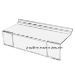Wholesale Acrylic Slatwall Shoe Shelf with Sign Holder pictures & photos