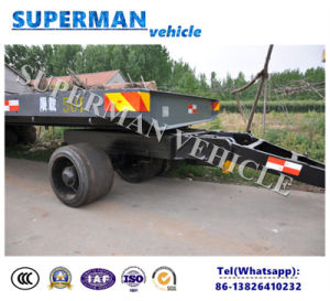 25t Cargo Transport Lowbed Industrial Agriculture Drawbar Trailer pictures & photos