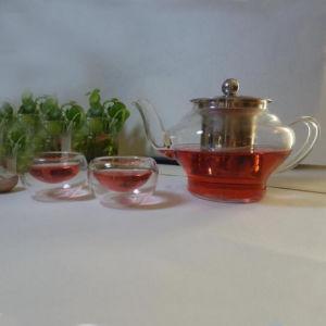 Export European Arabian Tea Pot Borosilicate Glass Teapot with Infuser pictures & photos