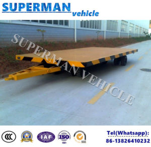 6t Flatbed Cargo Transport Industrial Drawbar Full Trailer pictures & photos