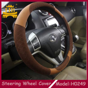 Decorative Six Colors Suitable for All People PU+Cloth Car Steering Wheel Cover