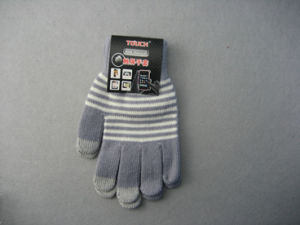 10g Polyester Liner Three Finger Touch Screen Work Glove-T3002 pictures & photos