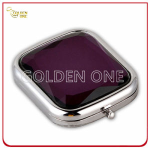 Fshion Design Chrome Plated Folding Square Compact Mirror pictures & photos