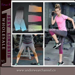 Fashion Pants Women Legging Stripped Printed Sports Wear (THSW22) pictures & photos