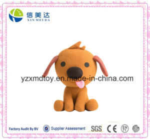 Cute Brown Plush Dog Protruding Tongue Soft Toy pictures & photos