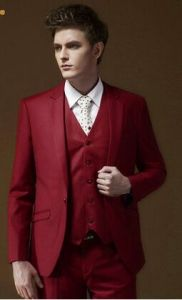Men′s Single Breasted Young Pure Color Dress Suit pictures & photos