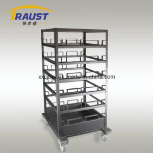 Hot Sale Retractable Belt Barrier Trolley pictures & photos