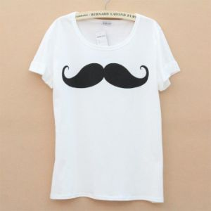 Custom Simple Logo Printing White T-Shirt pictures & photos