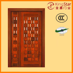 High-Quality Wooden Fire Door with Steel Structure (mother-son)