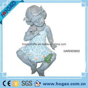 Polyresin Garden Decoration Girl Statue pictures & photos