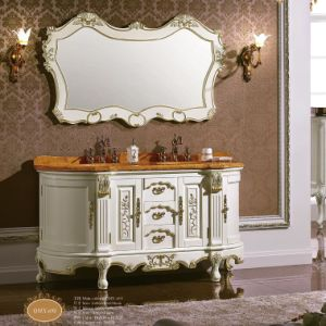 Antique Solid Wood White Bathroom Vanity pictures & photos