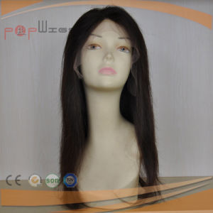 Natural Hair Line Human Hair Jet Black Full Lace Women Wig pictures & photos