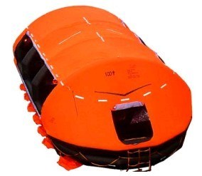 Water Lifesaving Davit-Launched Inflatable Life Raft pictures & photos