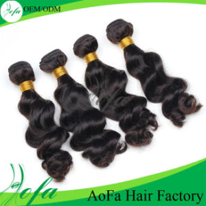 Guangzhou Aofa 7A Grade Body Wave Brazilian Human Hair Weft Virgin Hair Extension pictures & photos