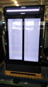 1200L Sliding Double Door Supermarket Beverage Cooler with Lock and Handle pictures & photos