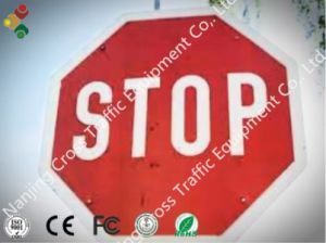 400mm*400mm Stop Solar Traffic Sign