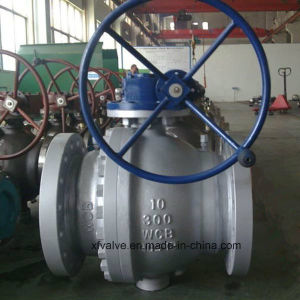 Cast Carbon Steel Worm Gear Operation Flange End Ball Valve pictures & photos