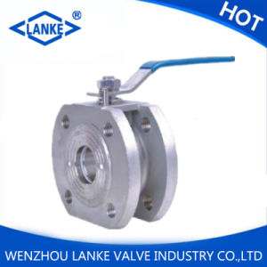 Ss304 Wafer Type Thinner Flange Ball Valve pictures & photos