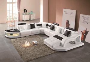 Living Room Modern Sofa Leather Sofa pictures & photos