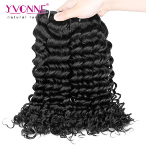 100% Human Hair Extension Deep Wave Brazilian Hair pictures & photos