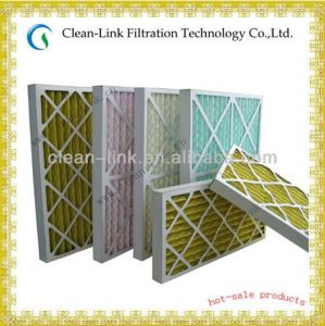 Cardboard Frame Pleated Air Filter Mesh pictures & photos