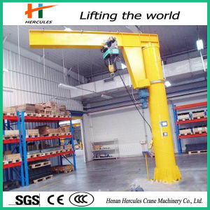 360 Degree Rotating Floor Mounted 1 Ton Pillar Jib Crane pictures & photos