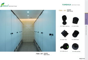 Public Place Phenolic Resin Fireproof Toilet Partition pictures & photos