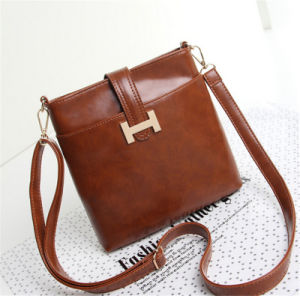Fashion Designer Simple Leisure PU Leather Handbag for Lady pictures & photos
