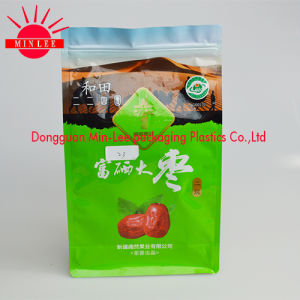 Flat Bottom Bag with Zipper/Flat Bottom Square Side Gusset Pouch for Nut with Ziplock Food Package Bag pictures & photos