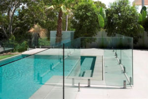 Separated Square Tempered Glass Balustrade Spigot Ued in Swimming Pool and Fence (CR-A10) pictures & photos