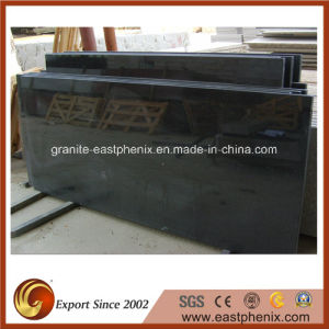 Competitive Price Polished Black Granite Veneer Countertop pictures & photos