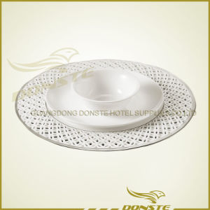 Stained Ceramic Plates Platinum Plate Table Combination